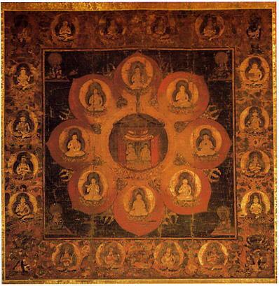 国宝重要文化財 観経曼荼羅図